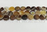 CAA4604 15.5 inches 16mm flat round banded agate beads wholesale