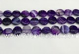 CAA4605 15.5 inches 16mm flat round banded agate beads wholesale