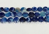 CAA4609 15.5 inches 16mm flat round banded agate beads wholesale