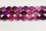 CAA4622 15.5 inches 20mm flat round banded agate beads wholesale
