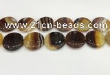 CAA4636 15.5 inches 30mm flat round banded agate beads wholesale