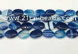 CAA4674 15.5 inches 15*20mm oval banded agate beads wholesale