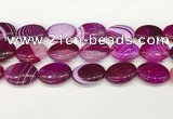 CAA4679 15.5 inches 18*25mm oval banded agate beads wholesale