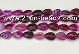 CAA4696 15.5 inches 12*16mm flat teardrop banded agate beads wholesale