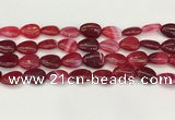 CAA4697 15.5 inches 12*16mm flat teardrop banded agate beads wholesale