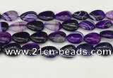 CAA4711 15.5 inches 15*20mm flat teardrop banded agate beads wholesale