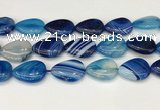 CAA4723 15.5 inches 18*25mm flat teardrop banded agate beads wholesale