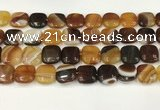 CAA4741 15.5 inches 14*14mm square banded agate beads wholesale