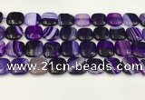 CAA4750 15.5 inches 16*16mm square banded agate beads wholesale