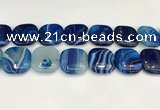 CAA4778 15.5 inches 25*25mm square banded agate beads wholesale