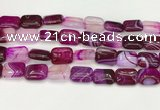 CAA4807 15.5 inches 13*18mm rectangle banded agate beads wholesale