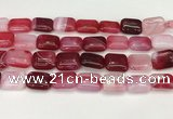 CAA4808 15.5 inches 13*18mm rectangle banded agate beads wholesale