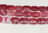 CAA4824 15.5 inches 18*25mm rectangle banded agate beads wholesale
