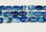 CAA4826 15.5 inches 18*25mm rectangle banded agate beads wholesale