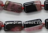 CAA484 15.5 inches 12*20mm rectangle agate druzy geode beads