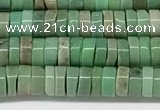 CAA4850 15.5 inches 2*4mm heishi grass agate beads wholesale