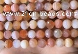 CAA4857 15.5 inches 10mm faceted round botswana agate beads