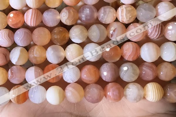 CAA4858 15.5 inches 12mm faceted round botswana agate beads
