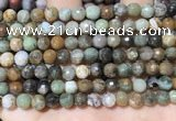 CAA4860 15.5 inches 6mm faceted round ocean agate beads