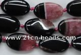 CAA487 15.5 inches 12*20mm oval agate druzy geode beads