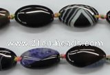CAA491 15.5 inches 12*20mm oval agate druzy geode beads