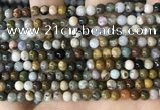 CAA4920 15.5 inches 4mm round ocean agate beads wholesale