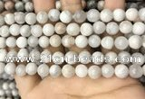 CAA4929 15.5 inches 8mm round grey agate beads wholesale