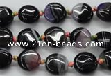 CAA493 15.5 inches 12mm flat round agate druzy geode beads