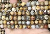 CAA4935 15.5 inches 8mm round yellow crazy lace agate beads wholesale