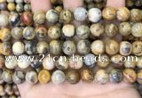 CAA4936 15.5 inches 10mm round yellow crazy lace agate beads wholesale