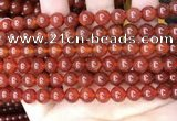 CAA4948 15.5 inches 8mm round red agate beads wholesale