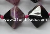 CAA495 15.5 inches 20*20mm pyramid agate druzy geode beads