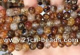 CAA5048 15.5 inches 8mm round dragon veins agate beads wholesale
