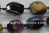 CAA505 15.5 inches 18*20mm faceted nuggets agate druzy geode beads