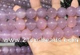 CAA5087 15.5 inches 18mm round purple agate beads wholesale