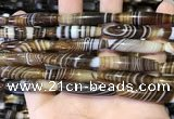 CAA5117 15.5 inches 8*33mm rice striped agate beads wholesale