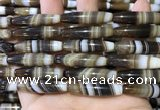 CAA5120 15.5 inches 8*35mm rice striped agate beads wholesale