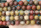 CAA5137 15.5 inches 14mm round natural chrysotine beads wholesale