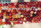 CAA5206 15.5 inches 6mm faceted round banded agate beads
