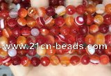 CAA5207 15.5 inches 8mm faceted round banded agate beads
