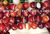 CAA5211 15.5 inches 16mm faceted round banded agate beads