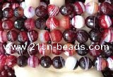 CAA5216 15.5 inches 12mm faceted round banded agate beads