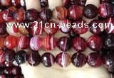 CAA5218 15.5 inches 16mm faceted round banded agate beads
