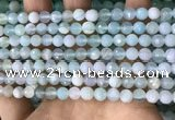 CAA5220 15.5 inches 6mm faceted round banded agate beads