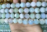 CAA5223 15.5 inches 12mm faceted round banded agate beads