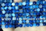 CAA5227 15.5 inches 6mm faceted round banded agate beads