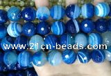 CAA5232 15.5 inches 16mm faceted round banded agate beads