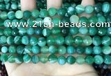 CAA5234 15.5 inches 6mm faceted round banded agate beads