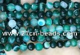 CAA5242 15.5 inches 8mm faceted round banded agate beads