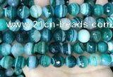 CAA5244 15.5 inches 12mm faceted round banded agate beads